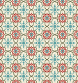 Floral background vintage style seamless pattern vector image