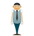 Happy modest office man vector image