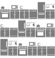kitchen equipment seamless pattern vector image
