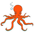 sea animal octopus inhabitant of the depths of vector image