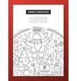 Merry Christmas - line design brochure poster vector image