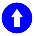 Arrow white in blue circle sign vector image