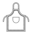 welding apron icon outline vector image