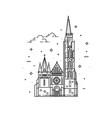 churches of hungary matthias church vector image vector image