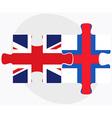 United Kingdom and Faroe Islands Flags vector image