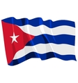 political waving flag of cuba vector image vector image