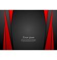 Dark red corporate tech modern background vector image