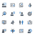 Employment and Business Icons - Blue Series vector image