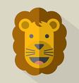 Modern Flat Design Lion Icon vector image