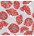 seamless floral poppy pattern vector image