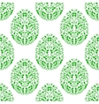 Seamless pattern from eggs with green floral vector image