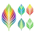 set of leaves collection vector image