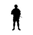 Soldier silhouette vector image