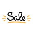 type retro hipster slogan sale hand-drawn vector image