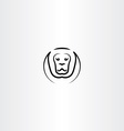 lion icon black line symbol vector image