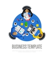 Business template Top view workspace background vector image