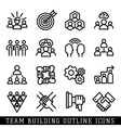 Team building icons vector image