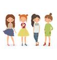 fashion stylish girls vector image