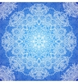Blue lacy vintage seamless pattern tile vector image vector image