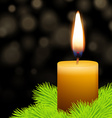 Candle and fir vector image vector image