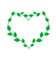 Fresh Green Vine Leaves in A Heart Wreath vector image