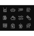 Retail website white flat line icons vector image