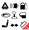 Car part icon set 6 vector image