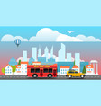 city travelling concept vector image