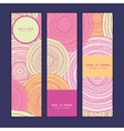 Doodle circle texture vertical banners set pattern vector image