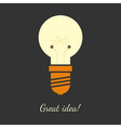 ligh bulb vector image