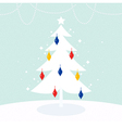 Magical Christmas Tree with colorful decoration vector image