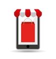 online shopping bag gift design vector image