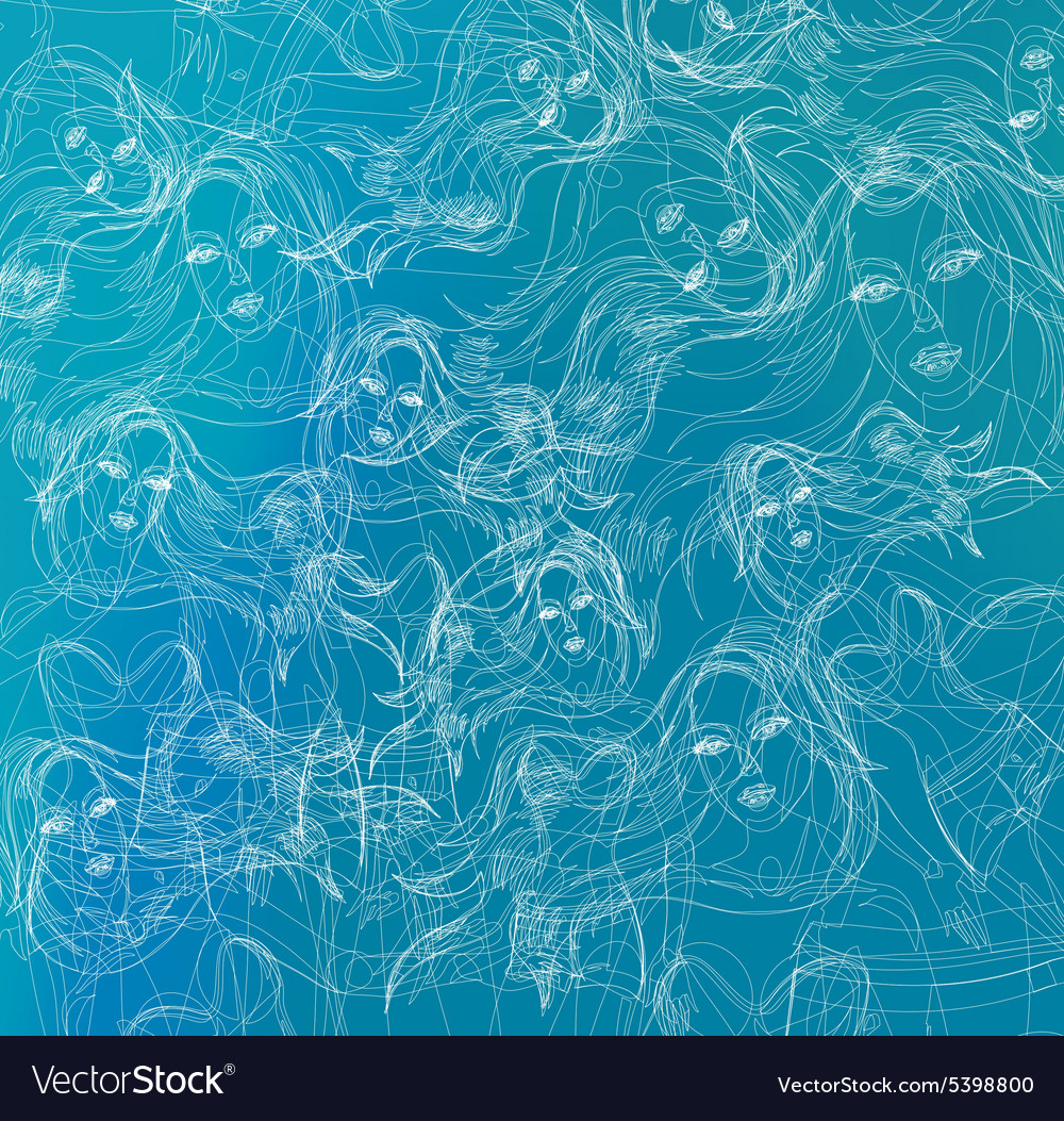 Abstract thin line background vector
