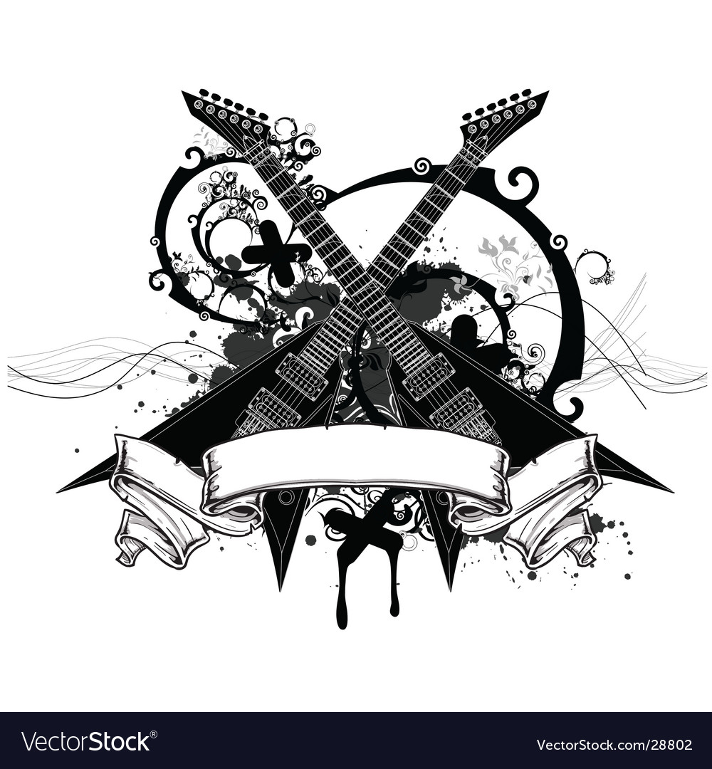 Rock music graphic vector