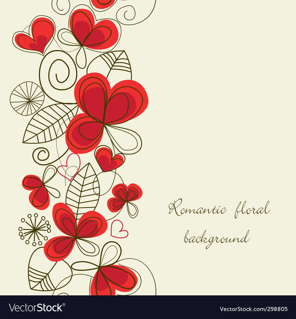 Flower love pattern vector