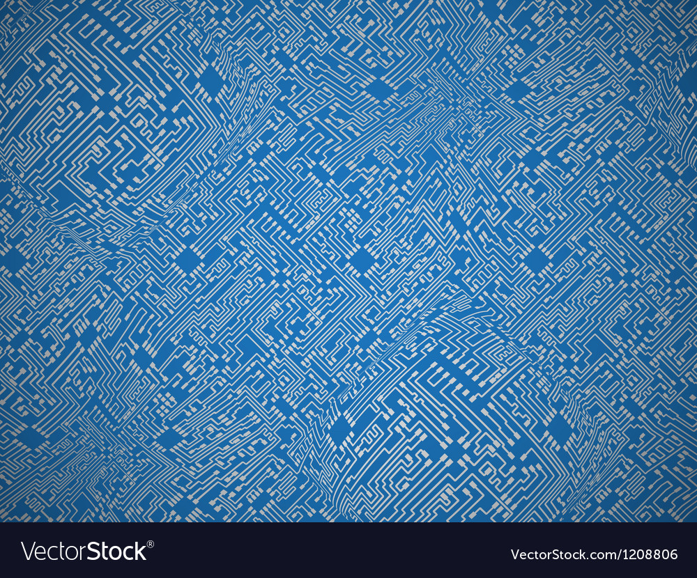 Blue circuit board background vector