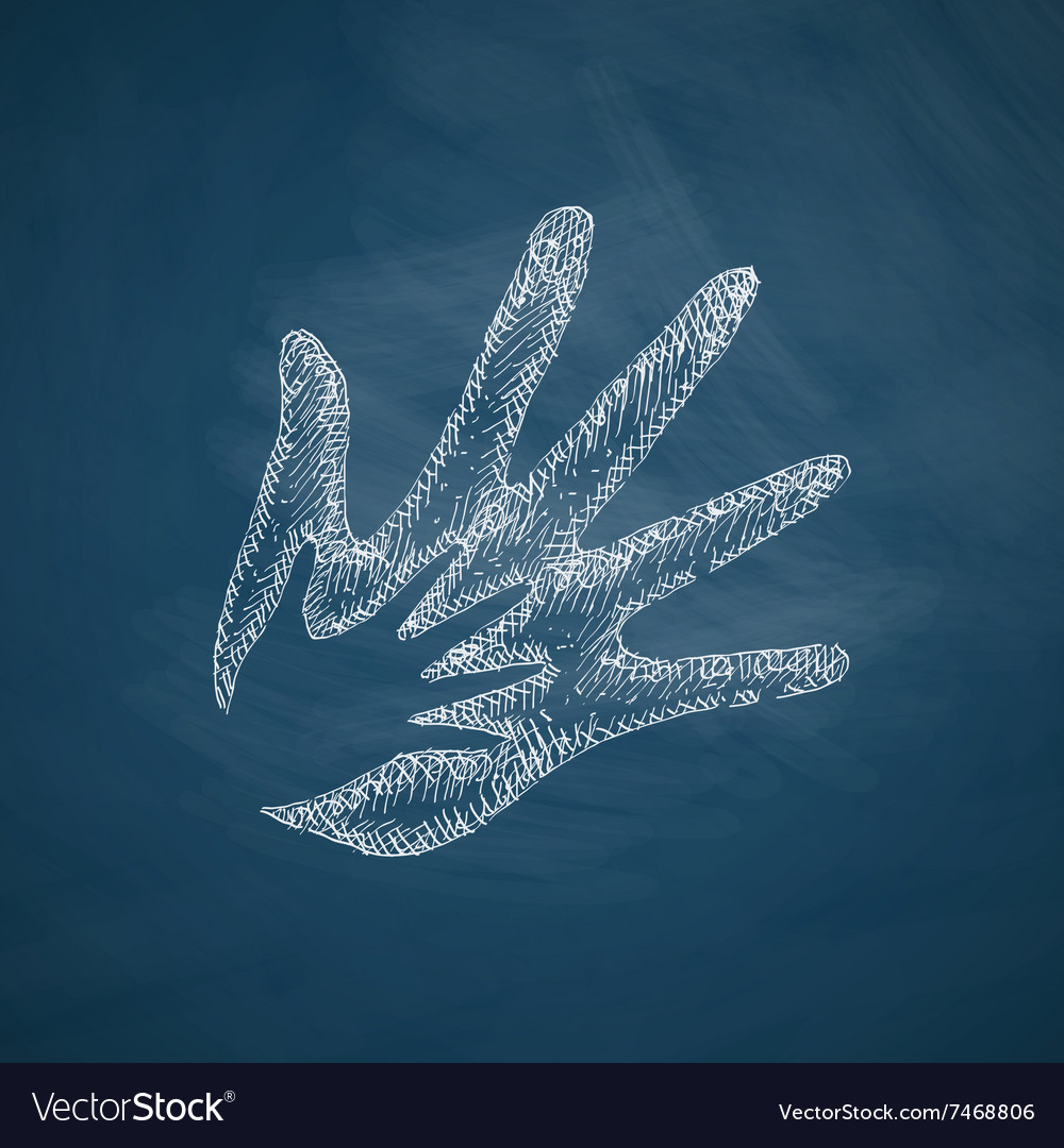 Hand family icon vector