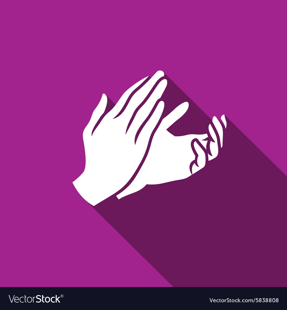 Applause clapping icon vector
