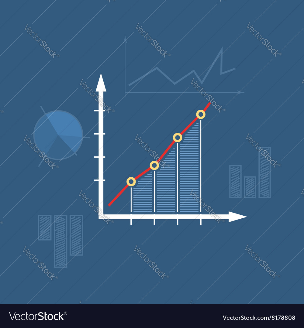 Chart line style design vector