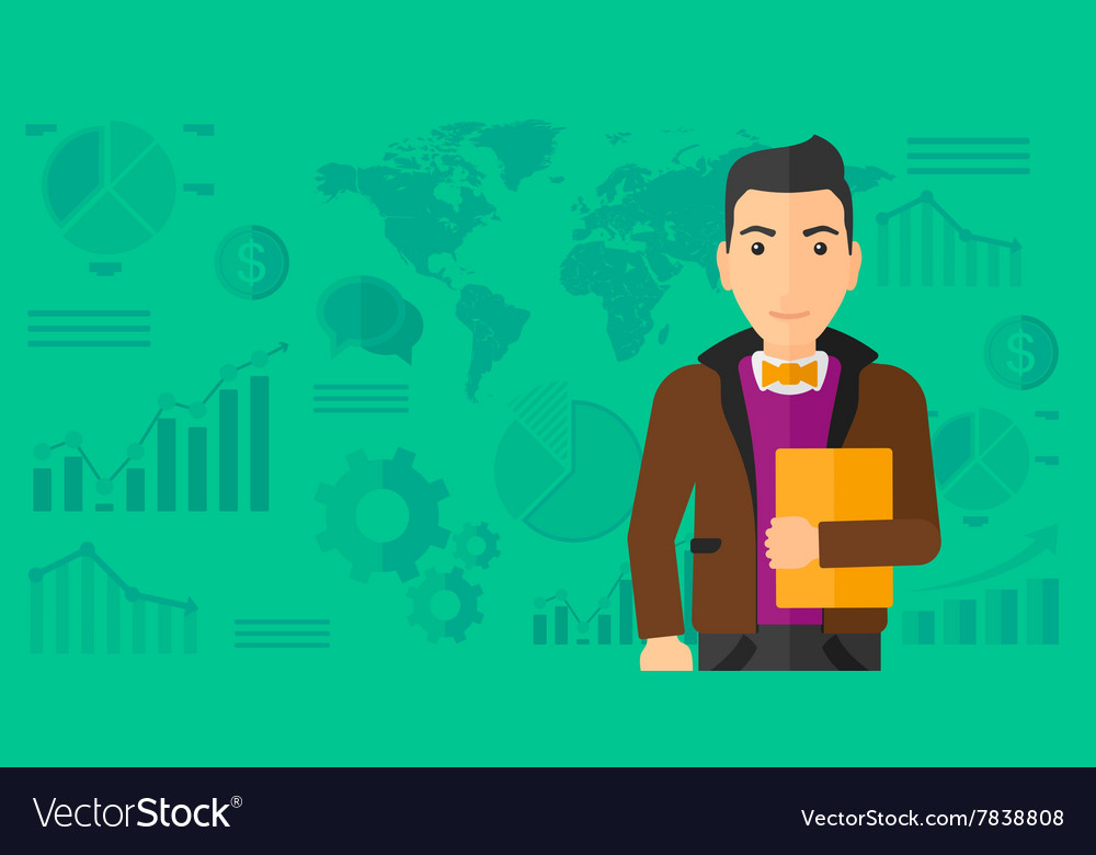 Cheerful successful businessman vector