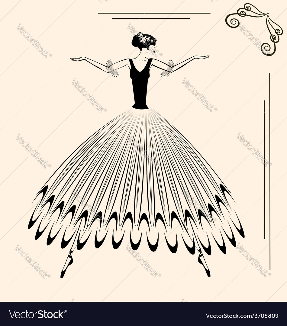 Image of ballet woman vector