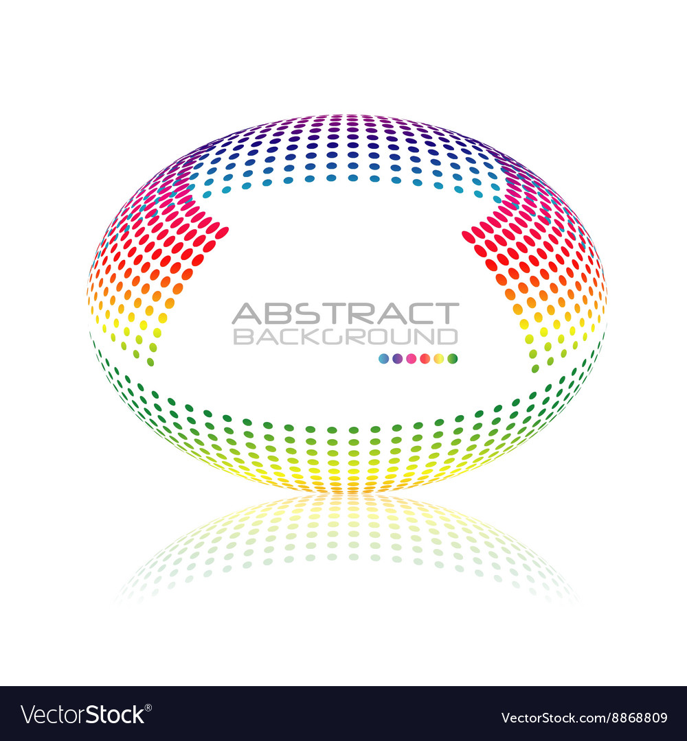 Multicolored globe oval sphere abstract vector