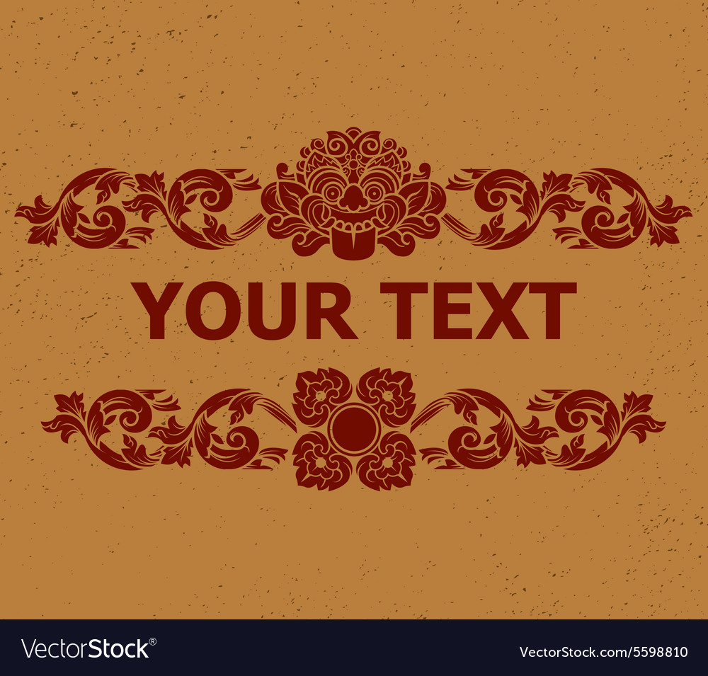 Kalamakara text decoration2 vector
