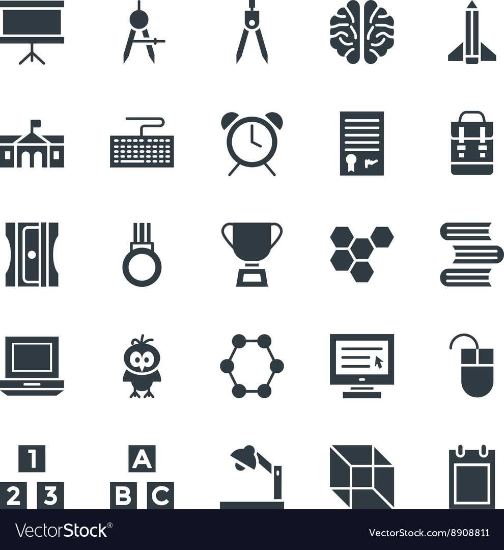 Education cool icons 4 vector