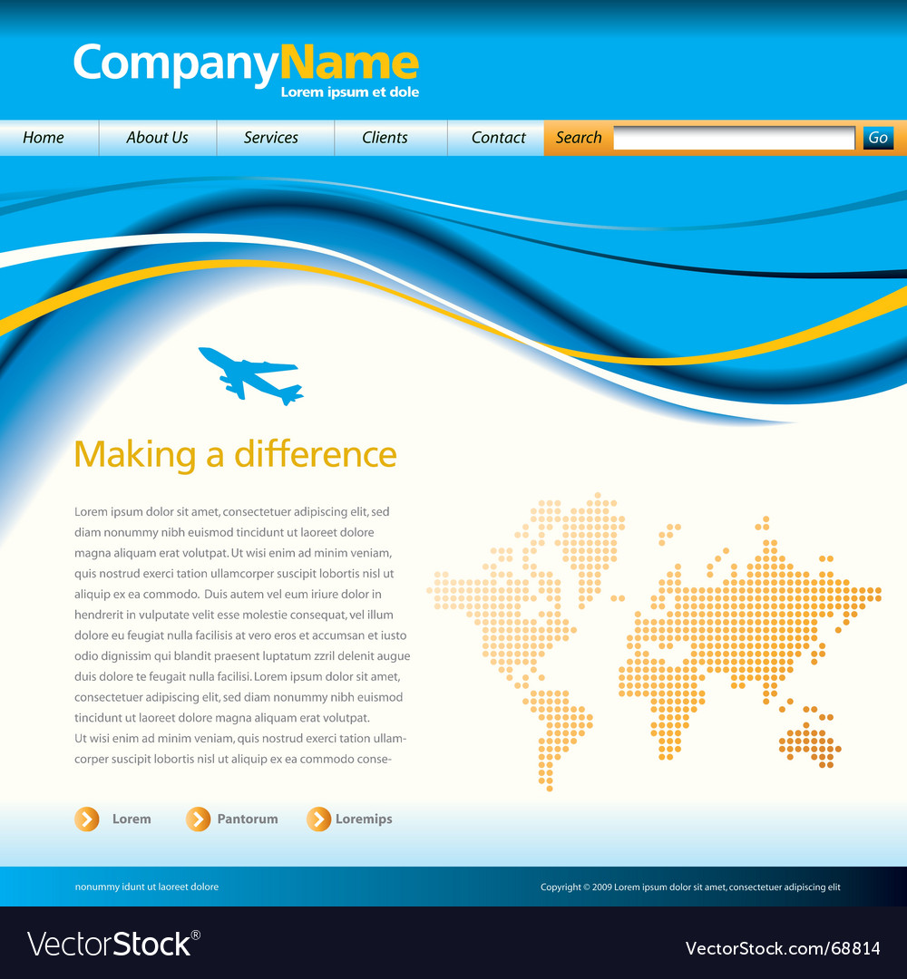 Wave web page vector