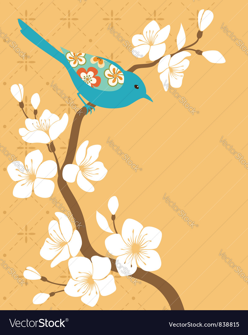 Sakura branch vector
