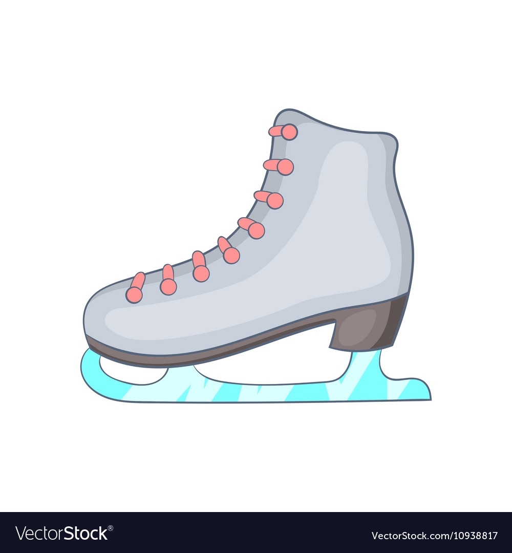 Ice skate boot icon cartoon style vector