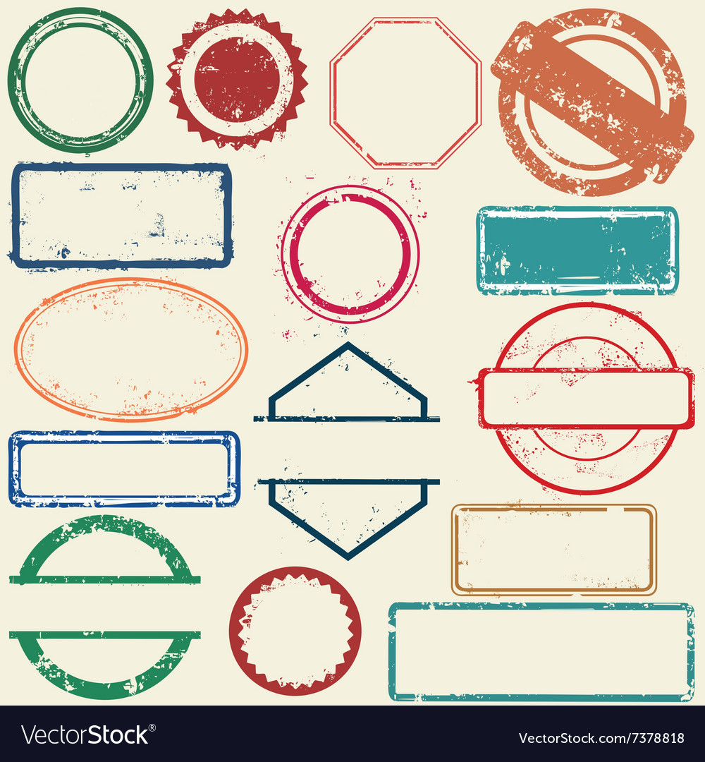 Stamps frames vector