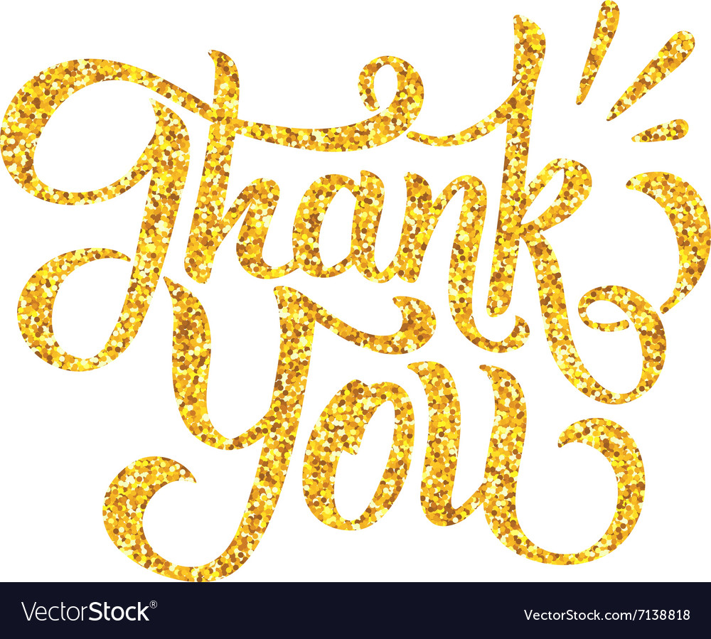 Thank you lettering isolated on white vector