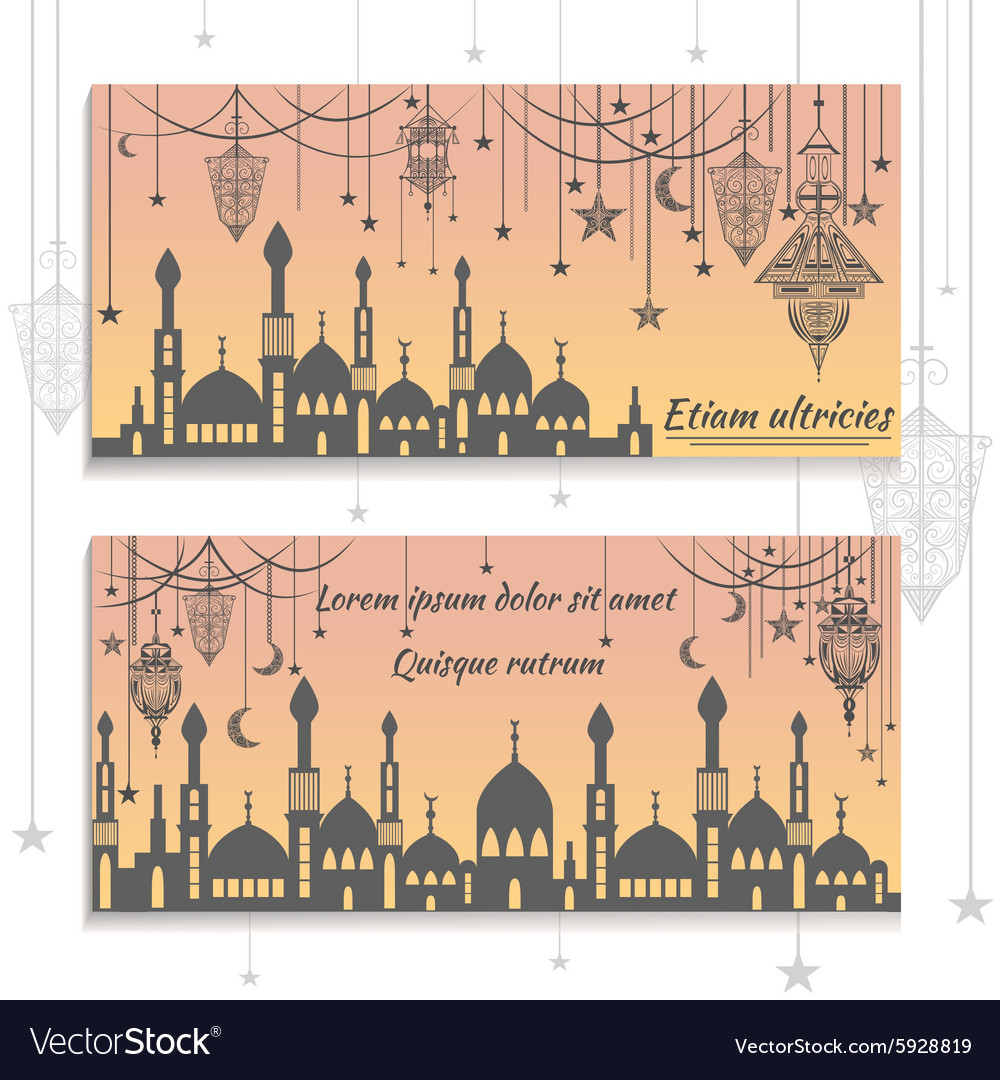 Set ethnic greeting cards invitations with the vector